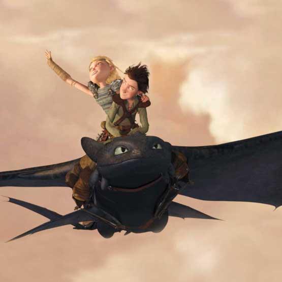 characters riding dragon